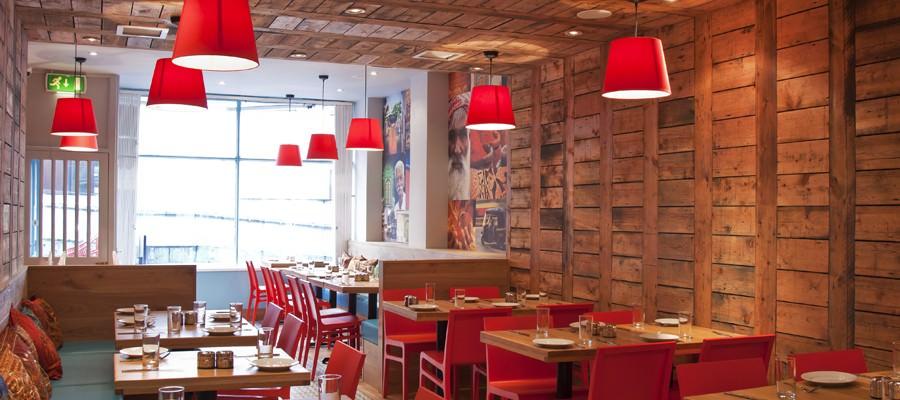 Restaurant interior design chiller box lifeforms