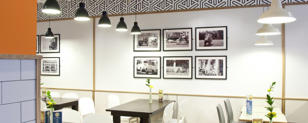 Cafe giardino interior design for restaurants